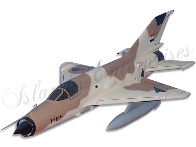 Iraqi Air Force MiG-21 Fishbed Model | Customized Wooden IQAF MiG ...
