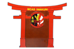 MCAS Iwakuni Torii Gate Cut-Out Plaque