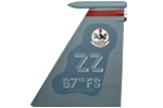 67 FS F-15C Tail Flash